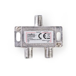 NEDIS SCOM100ME Satellite Combiner 2 to 1 F-Connector VHF/UHF: 5 - 860 MHz Satel | ΕΙΚΟΝΑ / ΗΧΟΣ | elabstore.gr