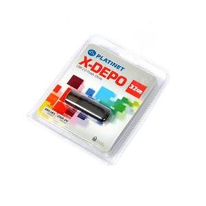 PLATINET USB 2.0 X-DEPO  Flash Disk 32GB μαύρο PMFE32   Περιφερειακά   elabstore.gr