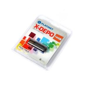 PLATINET USB 2.0  X-DEPO Flash Disk 16GB μαύρο PMFE16B   Περιφερειακά   elabstore.gr