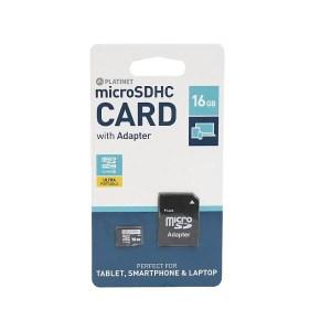 PLATINET microSDHC Secure digital + adapter SD 16GB CLASS 10  PMMSD1610   Περιφερειακά   elabstore.gr