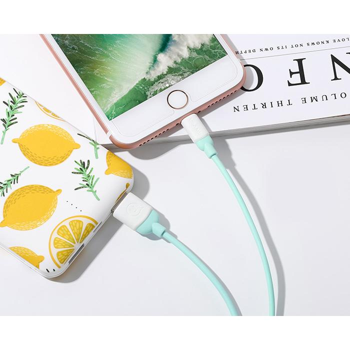 USAMS Καλώδιο USB σε Micro USB US-SJ247, Ice-Cream , 1m, πράσινο | Αξεσουάρ κινητών | elabstore.gr