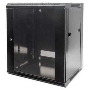 "INT 711791 FLATPACK 19"" 9U (500x570x600) WALLMOUNT CABINET BLACK | ΔΙΚΤΥΑΚΑ | elabstore.gr"