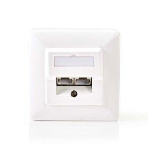 NEDIS CCGP89150IV Network Wall Box 2x RJ45 Female-Surface and Flush Mounting Ivo | ΔΙΚΤΥΑΚΑ / SMART HOME | elabstore.gr