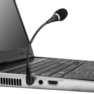 POWERTECH εύκαμπτο μικρόφωνο CAB-J042, 3.5mm, μαύρο   Συνοδευτικά PC   elabstore.gr