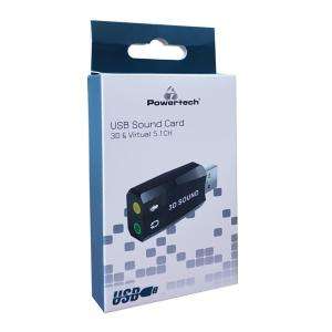 POWERTECH USB Κάρτα ήχου 5.1CH, με έξοδο μικρόφωνου και ακουστικού   PC & Αναβάθμιση   elabstore.gr