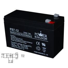 POWER KINGDOM μπαταρία μολύβδου PS7-12, 12Volt 7Ah, T2   Τροφοδοσία Ρεύματος   elabstore.gr