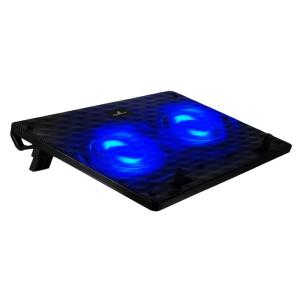 "POWERTECH Βάση & ψύξη laptop PT-739 έως 17"", 2x 120mm fan, LED, μαύρο | Αξεσουάρ για Laptop | elabstore.gr"