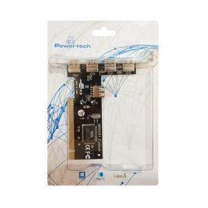 POWERTECH Κάρτα Επέκτασης PCI to USB 2.0, 4+1 ports, Chipset VIA6212   PC & Αναβάθμιση   elabstore.gr
