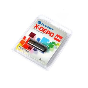 PLATINET USB 2.0 X-DEPO  Flash Disk 32GB ασημί PMFE32S   Περιφερειακά   elabstore.gr