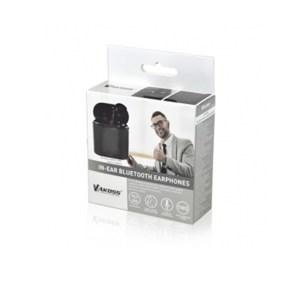 Ακουστικό In-ear Bluetooth earphones w/Docking Station Μαύρο Vakoss SK-830BK | Περιφερειακά | elabstore.gr