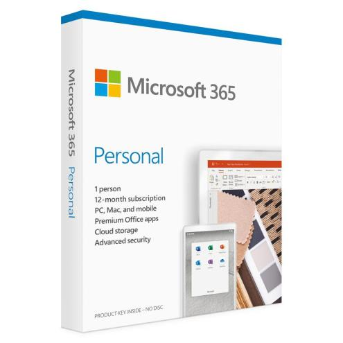 MICROSOFT Office 365 Personal QQ2-00989, English, medialess P6, 1 έτος | Software | elabstore.gr