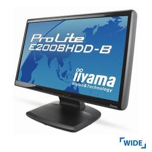 Used Monitor E2008HDD TFT/iiyama/20/1600x900/Wide/Black/VGA & DVI-D | Refurbished | elabstore.gr