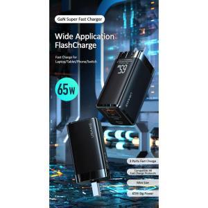 USAMS φορτιστής τοίχου MTXLOGTC01 GaN με καλώδιο, 3xUSB, 65W, μαύρο | Αξεσουάρ κινητών | elabstore.gr