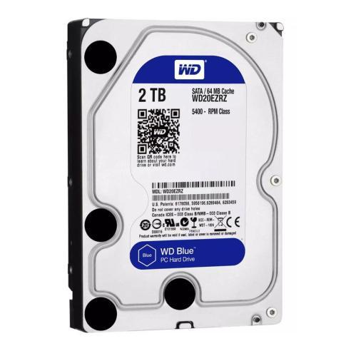 """WD Blue Σκληρός Δίσκος WD20EZRZ 2TB, 3.5"""", 64MB Cache, 5400RPM, 6Gb/s   PC & Αναβάθμιση   elabstore.gr"""