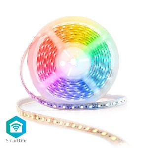 NEDIS WIFILS50CRGBW Wi-Fi Smart LED Strip Full Colour and Warm to Cool White 5m | ΔΙΚΤΥΑΚΑ / SMART HOME | elabstore.gr