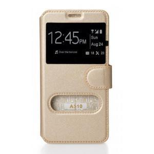 POWERTECH Θήκη Slide για SAMSUNG Galaxy A3 (2017), Gold   Αξεσουάρ κινητών   elabstore.gr