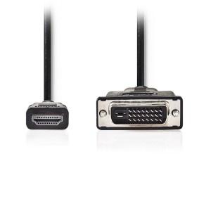 NEDIS CCGT34800BK20 HDMI Cable DVI-D 24+1-Pin Male 1080p 2.00 m Black Tag | ΚΑΛΩΔΙΑ / ADAPTORS | elabstore.gr
