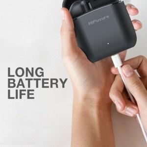 HIFUTURE earphones Flybuds 2 με θήκη φόρτισης, true wireless, μαύρα | Αξεσουάρ κινητών | elabstore.gr