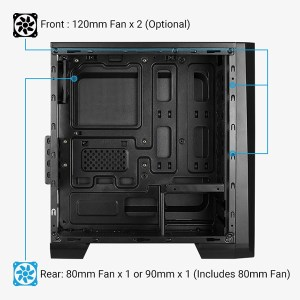 AEROCOOL PC case mini tower CYLON-MINI, 186x381.5x373mm, 1x fan | PC & Αναβάθμιση | elabstore.gr