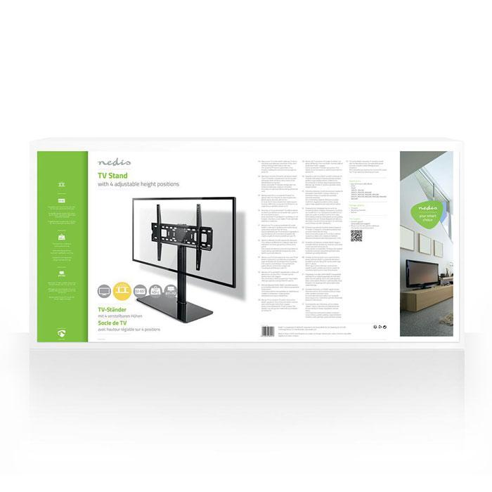 "NEDIS TVSM2030BK Fixed TV Stand 32-65"" Max 45 kg 4 Height Positions   ΕΙΚΟΝΑ / ΗΧΟΣ   elabstore.gr"