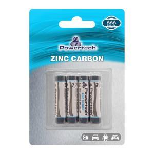POWERTECH Zinc Carbon μπαταρίες PT-948, AAA R03 1.5V, 4τμχ   Μπαταρίες   elabstore.gr
