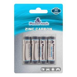 POWERTECH Zinc Carbon μπαταρίες PT-949, AA R6 1.5V, 4τμχ   Μπαταρίες   elabstore.gr