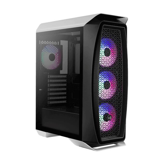 AEROCOOL PC case mid tower Aero One Frost, 195x461x411mm, 4x fan, λευκό   PC & Αναβάθμιση   elabstore.gr