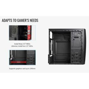 AEROCOOL PC mini tower CS-102, 190x345x372mm, 1x fan, μαύρο | PC & Αναβάθμιση | elabstore.gr