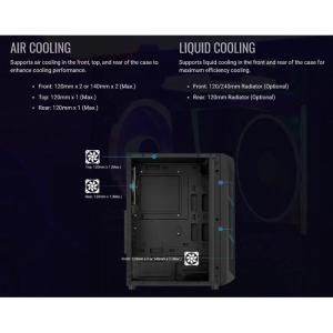 AEROCOOL PC case mid tower PRIME-G, 205x442x376.5mm, 1x fan, μαύρο | PC & Αναβάθμιση | elabstore.gr
