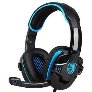 SADES gaming headset SA-708GT, 3.5mm, 40mm, μπλε   Συνοδευτικά PC   elabstore.gr