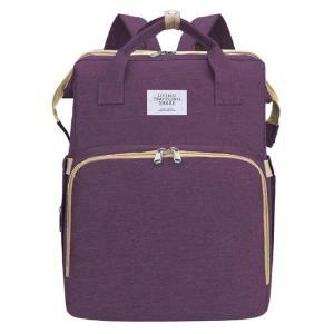 2 in 1 τσάντα πλάτης και παιδικό κρεβατάκι TMV-0051, αδιάβροχη, μωβ | Οικιακές & Προσωπικές Συσκευές | elabstore.gr