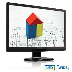 "Used Monitor 220Sx LED/Philips/22""/1680x1050/Wide/Black/D-SUB & DVI-D   Refurbished   elabstore.gr"