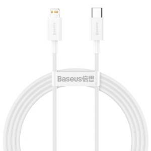 BASEUS καλώδιο USB Type-C σε Lightning CATLYS-C02, 20W, 2m, λευκό | Αξεσουάρ κινητών | elabstore.gr