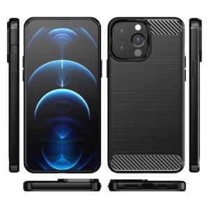POWERTECH Θήκη Carbon MOB-1656 για iPhone 13 Pro Max, μαύρη | Αξεσουάρ κινητών | elabstore.gr