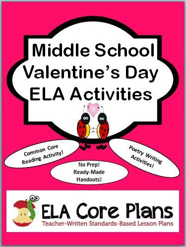 Valentines Day Activities for Middle School  TeacherWritten