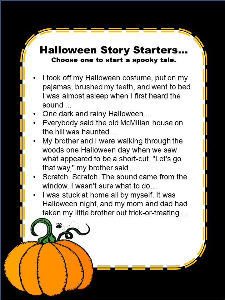 Halloween Story Starters and Acrostic Poem Middle School ELA ...