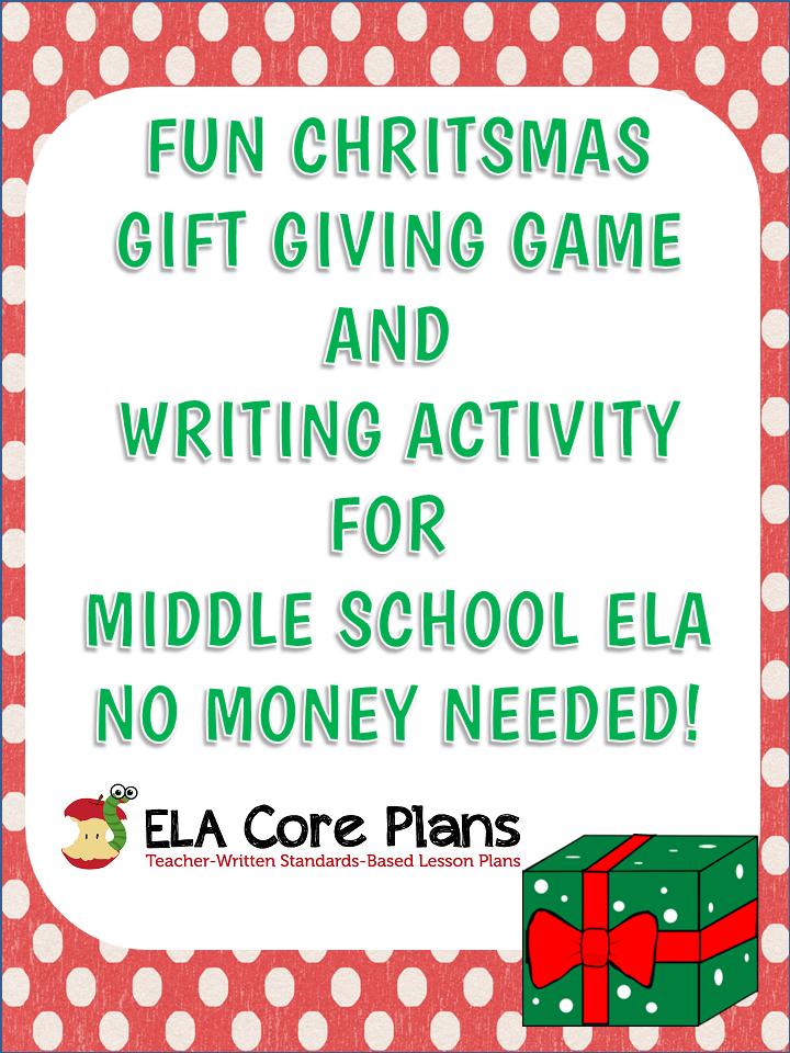 Gift giving christmas game