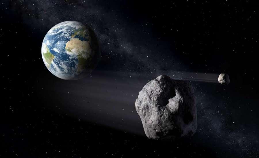 SAPR - Ilustración de asteroides cercanos a la Tierra