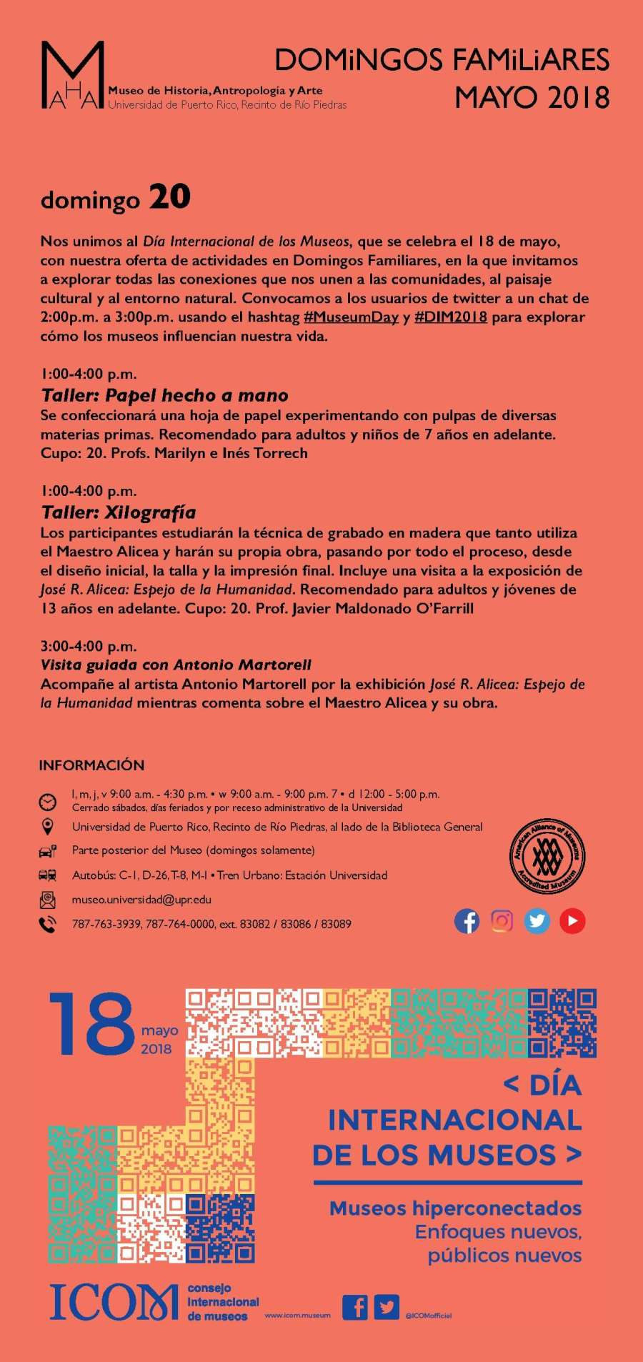 Museo UPR Mayo 2018 2018-05-20 Domingos Familiares 20 de mayo