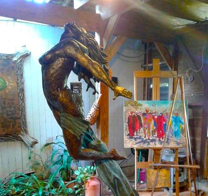 Escultura Samuel Lind -Foto por Rubí Febres