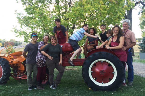 Cider Days Ela crew on tractor