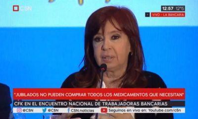 En el Encuentro Nacional de Trabajadoras Bancarias, Cristina con bancarias