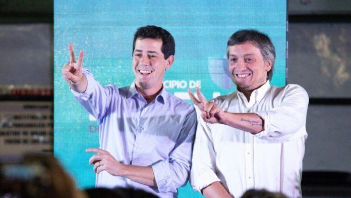 Wado de Pedro junto a Máximo Kirchner