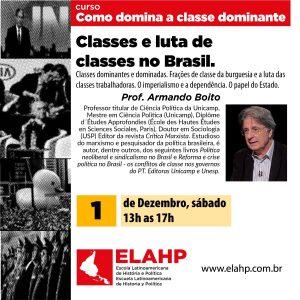 Classes e luta de classes no Brasil com Armando Boito