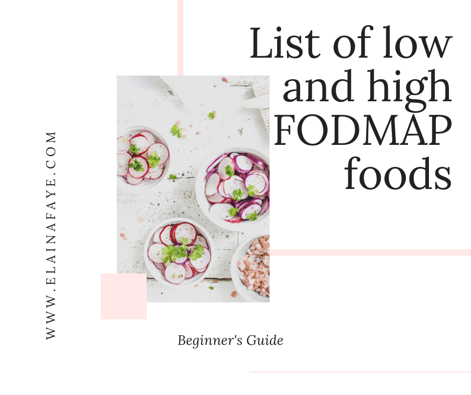 List of low and high FODMAP foods.