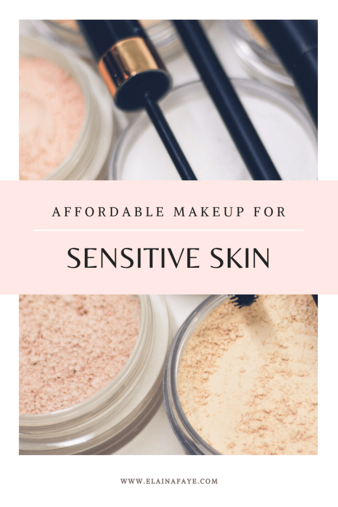 A list of talc-free makeup products for sensitive skin or acne prone skin.