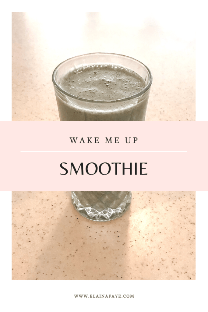 Easy healthy smoothie recipe. 6 ingredients that will boost your energy, keep you full, and help you lose weight.