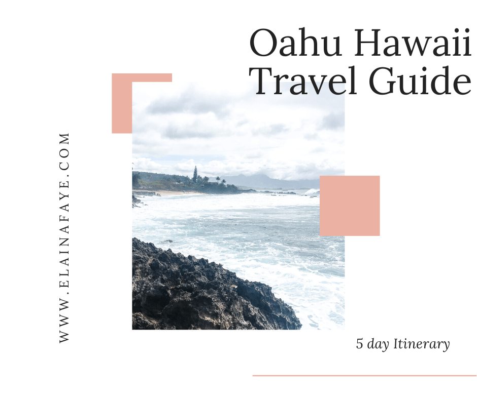 5 day travel guide to the island of Oahu Hawaii. You will find ways to save on flights to Hawaii, Hotels and accommodation recommendations, things to do and the prices, and where to eat in Honolulu. #Hawaii #Oahu