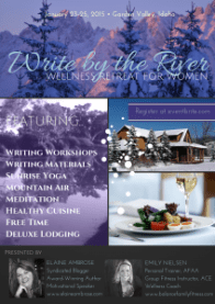 write by river winter retreat