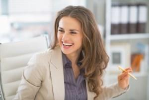 happy woman worker